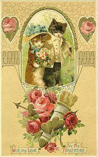 Two Cute Kitties Valentine Card.