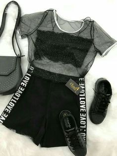 Great outfit idea to copy ♥ For more inspiration join our group Amazing Things ♥ You might also like these related products: - Sweaters ->. Girls Fashion Clothes, Teen Fashion Outfits, Edgy Outfits, Swag Outfits, Cute Casual Outfits, Outfits For Teens, Pretty Outfits, Girl Outfits, Mode Kpop