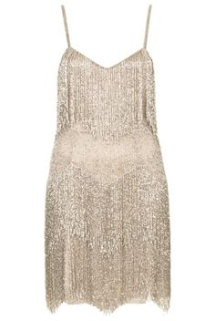 **Beaded Fringe Tiered Dress by Kate Moss for Topshop
