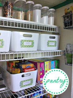 Cute Pantry... I love the IKEA baskets!