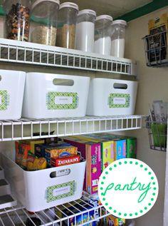 Cute Pantry... I love the IKEA baskets!