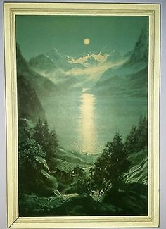 Moonlight over the mountains