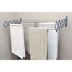 YES 🤓 why didnt i think of this its epic genius imperative Smart Dryer Expandable Accordion Indoor/Outdoor Drying Rack (Regular), Silver (Stainless Steel) Laundry Hanging Rack, Drying Rack Laundry, Clothes Drying Racks, Hanging Racks, Clothes Dryer, Laundry Closet, Laundry Room Organization, Small Laundry, Laundry Room Design