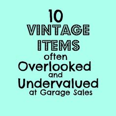 10 vintage items often overlooked and undervalued at garage sales Ever go vintage shopping & feel like the good stuff already sold? Learn the 10 vintage items often overlooked at garage sales, & finally get the good stuff! Thrift Store Shopping, Thrift Store Crafts, Thrift Store Finds, Shopping Hacks, Thrift Stores, Online Thrift, Thrift Store Refashion, Goodwill Finds, Online Shopping