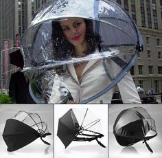 It may stop the rain, but it won't stop my hand from slapping her for wearing this.