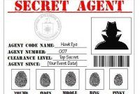 Secret Agent Spy Detective Cia Printable Within Spy Id Card Template In 2021 School Themes Mission Possible Classroom Themes