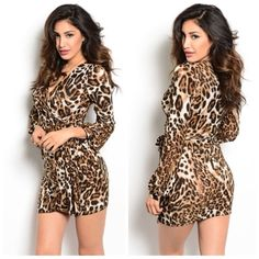 BROWN LEOPARD DRESS BROWN LEOPARD DRESS  95% POLYESTER 5% SPANDEX available in Small Medium Large Dresses