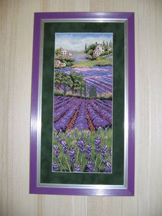 Framed Cross Stitch picture embroidery by CrossStitchPaternss