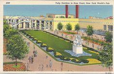Tulip Gardens in Rose Court, 1939-40 New York World's Fair Postcard.