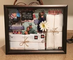 Shadow box of letters sent during basic military training! #bootcamp #usaf…