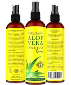 Global Ideas AVR: SPRAY de Aloe Vera para Cara, Piel y Pelo - 99% OR...