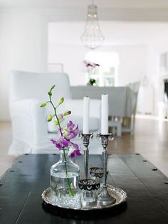 desiretoinspire.net - dining table centerpieces