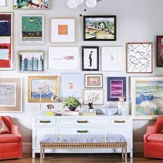 Eclectic gallery wall!