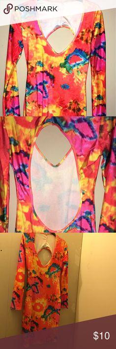 Tye dye dress Never worn . Ordered off the Internet . Not my style .knee length. Dresses Midi