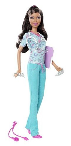 Barbie I Can Be... Nurse African-American Doll - New 2012 Version by Mattel, http://www.amazon.com/dp/B006E72LOG/ref=cm_sw_r_pi_dp_6Hnbrb0HFCQB5