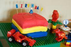 Lego cake platter