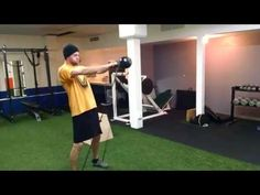 Band-resisted KB Swings SUPERSET Box Jumps