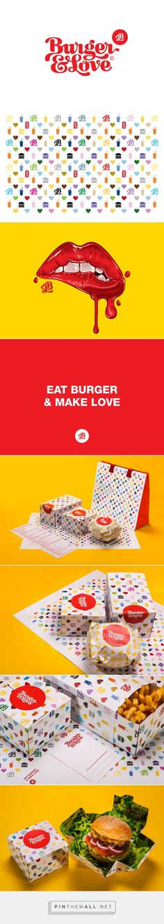 Burger&Love packaging by Kiss Miklos curated by Packaging Diva PD. Yummy, love the lips, so who wants a burger now?