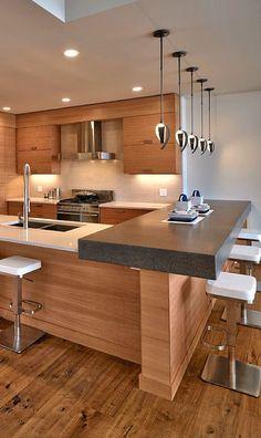 New Kitchen Design Modern Contemporary Pendant Lights Ideas Kitchen Design Open, Best Kitchen Designs, Kitchen Cabinet Design, Kitchen Layout, Interior Design Kitchen, Home Decor Kitchen, New Kitchen, Kitchen Ideas, Kitchen Hacks