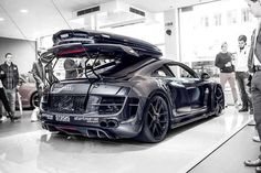 Jon Olsson's Audi R8  When you get to the point that you'd drive an R8 in the snow.