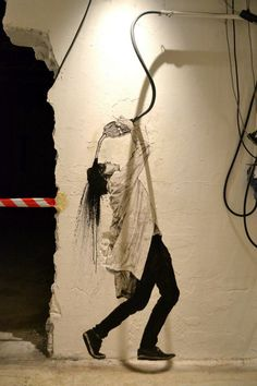 by Levalet - Serie: Oil - New pieces for Nuart - Stavanger, Norway - Sept 2014