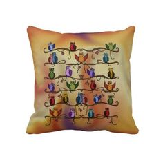 Rest your head on one of Zazzle's Owl decorative & custom throw pillows. Add comfort and transform any couch, bed or chair into the perfect space! Cute Pillows, Decorative Throw Pillows, Clocks, Owl, Accent Pillows, Owls, Clock, Decorative Pillows