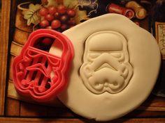 Clone Trooper Cookie Cutter Stamp Set Storm Trooper Star Wars Inspired Pink BPA FREE