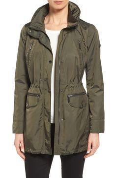 MICHAEL Michael Kors Detachable Hood Stand Collar Jacket (Regular