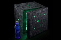 Trekkies, you'll love that this mini fridge is made in the perfect likeness of a formidable Borg Cube. It glows green inside and out. As a legit bonus, it has settings to keep the food inside either cold or hot and is portable for epic geek trips!