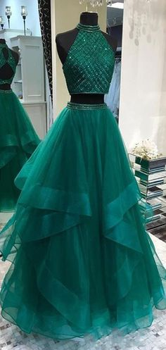 Sexy Two Pieces Emerald Green Open Back Evening Prom Dresses, Cheap Custom Sweet. - Sexy Two Pieces Emerald Green Open Back Evening Prom Dresses, Cheap Custom Sweet 16 Dresses, 18488 Source by cilenealba - Two Piece Evening Dresses, Prom Dresses Two Piece, Cute Prom Dresses, Long Prom Gowns, Sweet 16 Dresses, Cheap Dresses, Elegant Dresses, Homecoming Dresses, Pretty Dresses