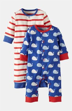 Mini Boden Print Romper (2-Pack) (Infant) available at #Nordstrom