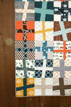 Happy Camper Wonky Cross Quilt by QuiltsByEmily, via Flickr