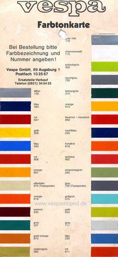 originale Farben Vespa T5