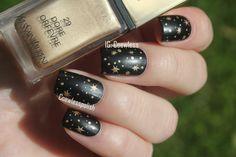 golden star black nails