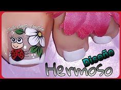 Toe Nail Designs, Toe Nails, Pedicure, Finger, Nail Art, Youtube, Designed Nails, Greek, Flower