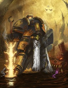 Kaldor Draigo was the Supreme Grand Master of the Grey Knights Space Marine Chapter. Lost in the Realm of Chaos within the Warp for at least the last standard century, he is sometimes able to return to realspace to fight alongside his Battle-Brothers in the Grey Knights during particularly dangerous daemonic incursions.