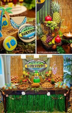 """""""Survivor"""" Inspired Party Full of Fabulous ideas. I have wanted a survivor party forever. 10th Birthday Parties, 12th Birthday, Birthday Fun, Birthday Party Themes, Birthday Ideas, Fun Party Themes, Party Ideas, Fun Ideas, Survivor Theme"""