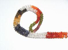 Multi Faceted Roundel Semi Precious Gemstone by beadsogemstone, $18.00