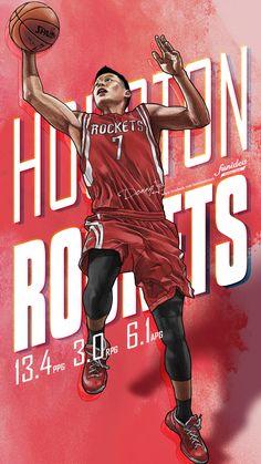 Jeremy Lin #Houston #Rockets Rockets Basketball, Basketball Shirts, Basketball Hoop, Asian Wallpaper, Jeremy Lin, Houston Rockets, Nba Players, Lebron James, My Works