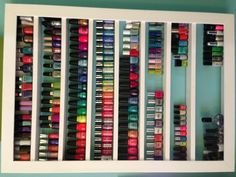 I want a Beauty room and a built in nook in the room for my nail polish similar to this type of look. :)