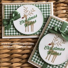 #christmasclub #christmascards #holiday #bonniestamped #merrymistletoe #stampinup #bemerry