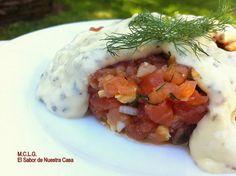 ¿Hacemos un tartar de salmón, valga la redundancia, con salsa tártara? No dejes de ver el paso a paso, aquí.
