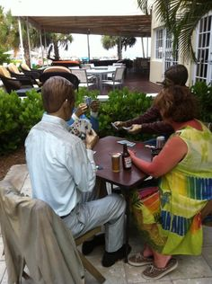 Relax and enjoy a round of cards with some famous guests in #Keywest at The Reach!
