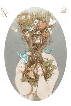 Fairy Illustrations by Jin Xingye – Fubiz Media