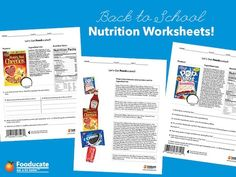 Fun Nutrition Worksheets for Kids - teach your kids to read food labels with help from these worksheets, and maybe they'll understand why poptarts are not for breakfast!