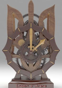 My desk clock Ukrainian coat of arms