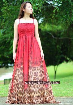 Red Leopard Dress Prom Maxi Dress Plus Size Dress Summer Sundress Beach