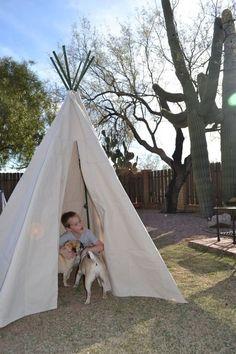 DIY garden tent for children kids playground ideas