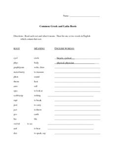Perfect for middle-schoolers, this is a collection of four documents which can help you introduce and assess Latin and Greek roots and prefixes. Th...
