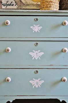 add a sweet detail to a painted dresser